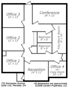 Classy 25 sample floor plans with dimensions decorating for Office design drawing samples