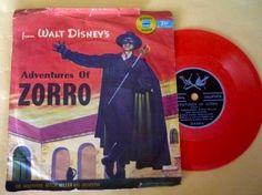 Walt Disney 'Zorro' record, 1957.