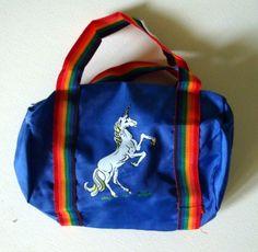 6cef8c061b vintage 1980s Unicorn Duffle Bag