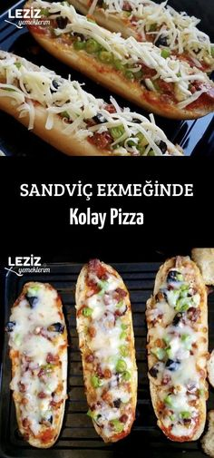 Sandviç Ekmeğinde Kolay Pizza Einfache Pizza bei Sandwich Bread Check more at In turkishfood. Easy Meals For Kids, Fun Easy Recipes, Kids Meals, Pizza Facil, Turkish Recipes, Ethnic Recipes, Ideas Sándwich, Turkish Breakfast, Roasted Turkey