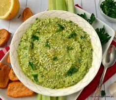 Χούμους με γεύση πέστο μαιντανού Pesto Hummus, Parsley Pesto, Palak Paneer, Guacamole, Salsa, Dips, Appetizers, Mexican, Snacks