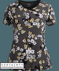 Cherokee Infinity Scrubs Digital Bloom Antimicrobial Print Top