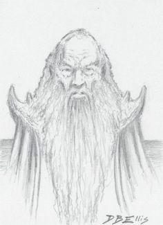 SARUMAN  by David B. Ellis  original fantasy art, ACEO, tolkien, lotr