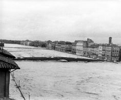 Photo of the Arno River, Florence Flood of 1966