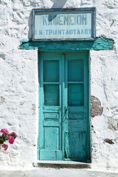 Traditional coffee shop. Kithira, Greece