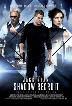 Jack Ryan: Shadow Recruit directed by Kenneth Branagh - Chris Pine (Jack Ryan), Keira Knightley (Cathy Muller), Kevin Costner (Thomas Harper) & Kenneth Branagh (Viktor Cherevin) Kevin Costner, Chris Pine, Film D'action, Bon Film, Keira Knightley, Streaming Vf, Streaming Movies, Tv Series Online, Movies Online