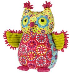 Print Pizzazz Kiwi Owl Plush by Mary Meyer - EarlyWhirly - The Best Deals on The Best Wooden & Educational Toys