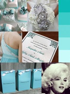 Tiffany Blue wedding inspiration board