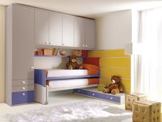 50 Living ideas Children's room, how to make the most of the space - design ideas Childrens Bedroom Furniture, Bedroom Furniture Sets, Bed Furniture, Fitted Cabinets, Casa Kids, Bedside Table Design, Bedroom Cabinets, Kids Bunk Beds, Smart Furniture