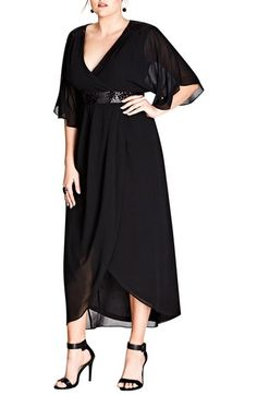 39b172226247a9 Shop a great selection of City Chic Sequin Wrap Maxi Dress (Plus Size).  Find new offer and Similar products for City Chic Sequin Wrap Maxi Dress (Plus  Size) ...