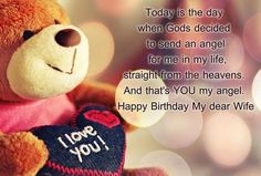 February is celebrated as Teddy Bear day. Share your happiness and love with your near and dear ones with given Happy Teddy Bear Day Quotes. Wife Birthday Quotes, Birthday Wishes For Wife, Romantic Birthday Wishes, Birthday Messages, Birthday Cards, Birthday Blessings, Birthday Gifts, Cousin Birthday, Birthday Sayings