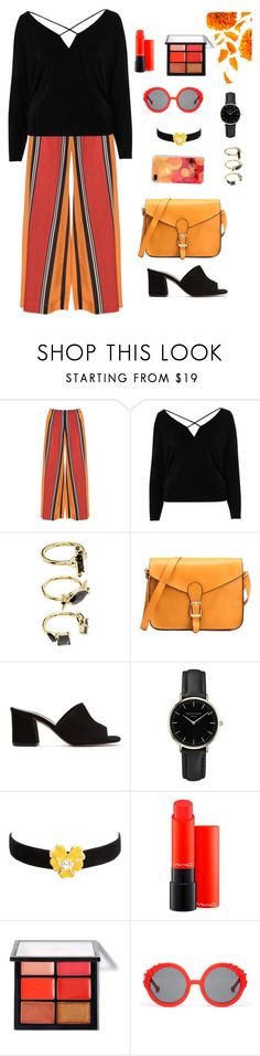 """""""Untitled #1843"""" by ebramos ❤ liked on Polyvore featuring Mat, River Island, Noir Jewelry, Maryam Nassir Zadeh, ROSEFIELD, Kenneth Jay Lane, MAC Cosmetics and Preen"""