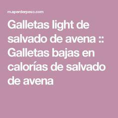 Galletas light de salvado de avena :: Galletas bajas en calorías de salvado de avena