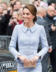 Kate, who is patron of the National Portrait Gallery looked delighted to be visiting theMauritshuis art museum