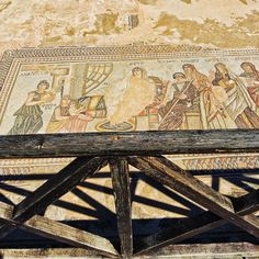 Mosaic of the first bath of Achilles in the House of Theseus in Paphos