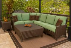 Family Leisure offers the largest selection of patio furniture, including the Palmer Deep Seating Sectional Collection by Windward Design Group. Lowest prices on outdoor furniture on sale now! White Wicker Furniture, Patio Furniture Cushions, Pool Furniture, Outdoor Cushions, Patio Chairs, Outdoor Furniture, Wicker Bedroom, Painted Furniture, Deep Seat Cushions