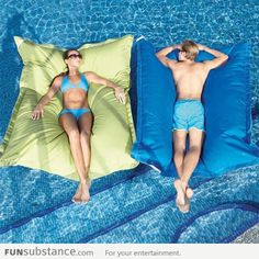 Pool pillows: enjoying summer like a boss