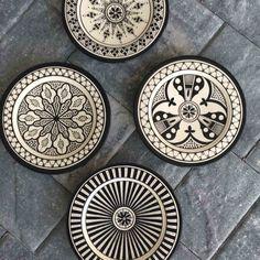 Safi Black Dinner Plates (Set of 4)