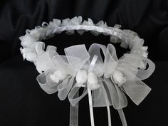 Hey, I found this really awesome Etsy listing at https://www.etsy.com/listing/225948043/first-communion-headpiece-crown-tiara