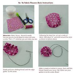 Basic Yo-Yo Fabric Flower Instructions