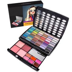 Indulge in a new sophisticated style with SHANY Glamour Girl Makeup kit. The kit comes with hot vivid fashionable colors, highly pigmented mineral oil based Eye shadows. From matte to ultra-shimmers, prime cheeky blushes and 6 glossy lip creams, this beautiful kit from SHANY is all about style. This case comes in a beautiful vintage style packaging. Girls Makeup Set, Makeup Kit For Kids, Make Up Kits, Mini Makeup, Lip Cream, Vintage Makeup, Glossy Lips, Makeup Essentials, Makeup Palette