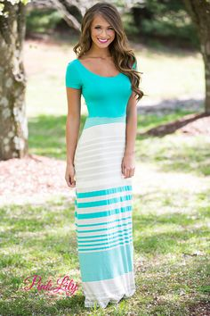 On Cloud Nine Maxi Dress Mint - The Pink Lily