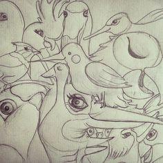 #illustration #birds #Colombia #Bogotá #ecodiseño #medioambiente  #diseño #fotografia #eco #rse  #ecodiseno  #diseno #Bogota #ecodesign #design #photography #draw #drawings #sketch #illustration #inspiration #paperlove http://instagram.com/soy_juliagallo  http://juliagallo.co