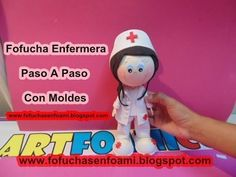 FOFUCHA ENFERMERA CON VESTIDO BLANCO Y  MOLDES Nurse Party, Mario, Projects To Try, Baby Shower, Dolls, Crafts, Google Drive, Fictional Characters, Youtube