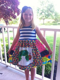 fb5194279764 Hungry caterpillar dress Back to school Pink Momi boutique girls dress  Hungry Caterpillar, School Design
