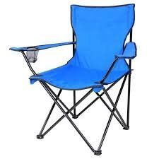Folding Chair Outdoor Camping Seat w Beverage Holder Blue ** Check out the image by visiting the link.