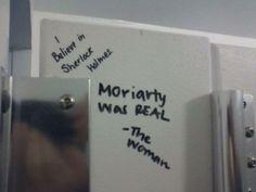 The Sherlockian who is slowly turning the world into Tumblr.   25 Nerds Who Revolutionized Bathroom Graffiti