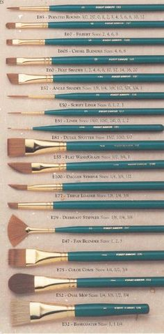 Watercolors brushes. I love buying new brushes. Even though I have more than I will ever use. Actually, I love all art supplies. Wish I were rich. by ronda