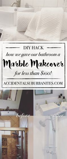 Bathroom Makeovers For Less before & after bathroom makeover: transforming our dated powder