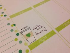 Coffee Cups – Starbucks Inspired with Hearts | PlannerGlitz Erin Condren Life Planner, Plumb Paper Planner Stickers