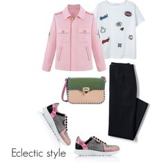 Eclectic style by sintony on Polyvore featuring мода, MANGO, Lands' End, Karl Lagerfeld and Valentino
