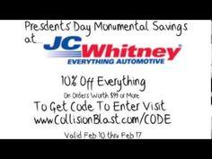 JC Whitney Presidents' Day Sale