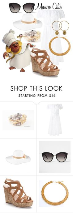 """""""Mama Odie (A Disney-Inspired Outfit)"""" by one-little-spark ❤ liked on Polyvore featuring Blumarine, August Hat, River Island, Jennifer Lopez, disney and disneybound"""