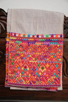 Aldama Sash  This is a man's ceremonial sash from Aldama (Magdalenas), a Tzotzil Maya community in the Chiapas Mexico highlands. Casa Felipe Flores collection - We love the color, patterns, variety and workmanship that go into the beautiful hand made textiles of Mexico - to see more visit www.mainlymexican... #Mexico #Mexican #textile #woven