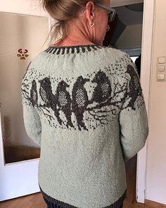 Ravelry: Birdsong pattern by Maschenwunder Manja Vogelsang Fair Isle Knitting Patterns, Sweater Knitting Patterns, Knitting Designs, Knit Patterns, Clothing Patterns, Knitting Stitches, Crochet Woman, Knit Crochet, Icelandic Sweaters