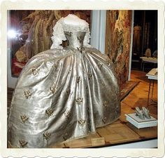 The coronation dress of Catherine the Great from Russia.