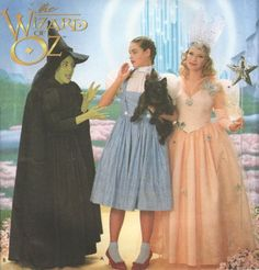 Adult WIZARD of OZ Halloween Costume Pattern - Dorothy Wicked Witch Glinda