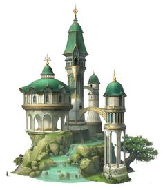 ArtStation - elf mansion, JiWon So