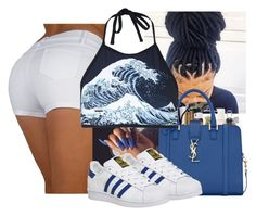 """"""""""" by wavyjai ❤ liked on Polyvore featuring Motel and adidas"""