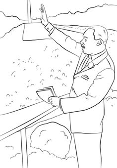 martin luther king i have a dream coloring page from famous people category
