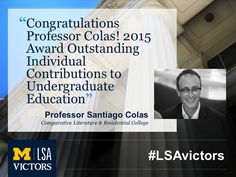 Congrats, Yago! (Associate Professor of RC Arts and Ideas in the Humanities)