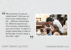 Celebrate Life with DEAR ZINDAGI Cinema Quotes, Film Quotes, Book Quotes, Funny Quotes, Qoutes, Dear Zindagi Quotes, Bollywood Quotes, Life Quotes Pictures, Quotes That Describe Me