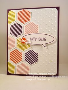 "Did You Stamp Today?: Bright Hexie Get Well  Uses"" Six-Sided Sampler, Just Sayin', And Many More, Hexgon punch, Word Bubbles framelits, Stampin' Up!, SU"