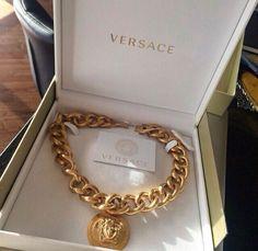 Versace Necklace Designer Gold Dope