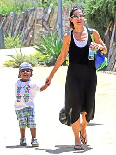 Sandra Bullock Visits Museum With Son Louis