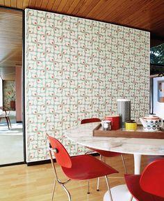 Loki   Papel de parede floral   Padrões de papel de parede   Papel de parede dos anos 70
